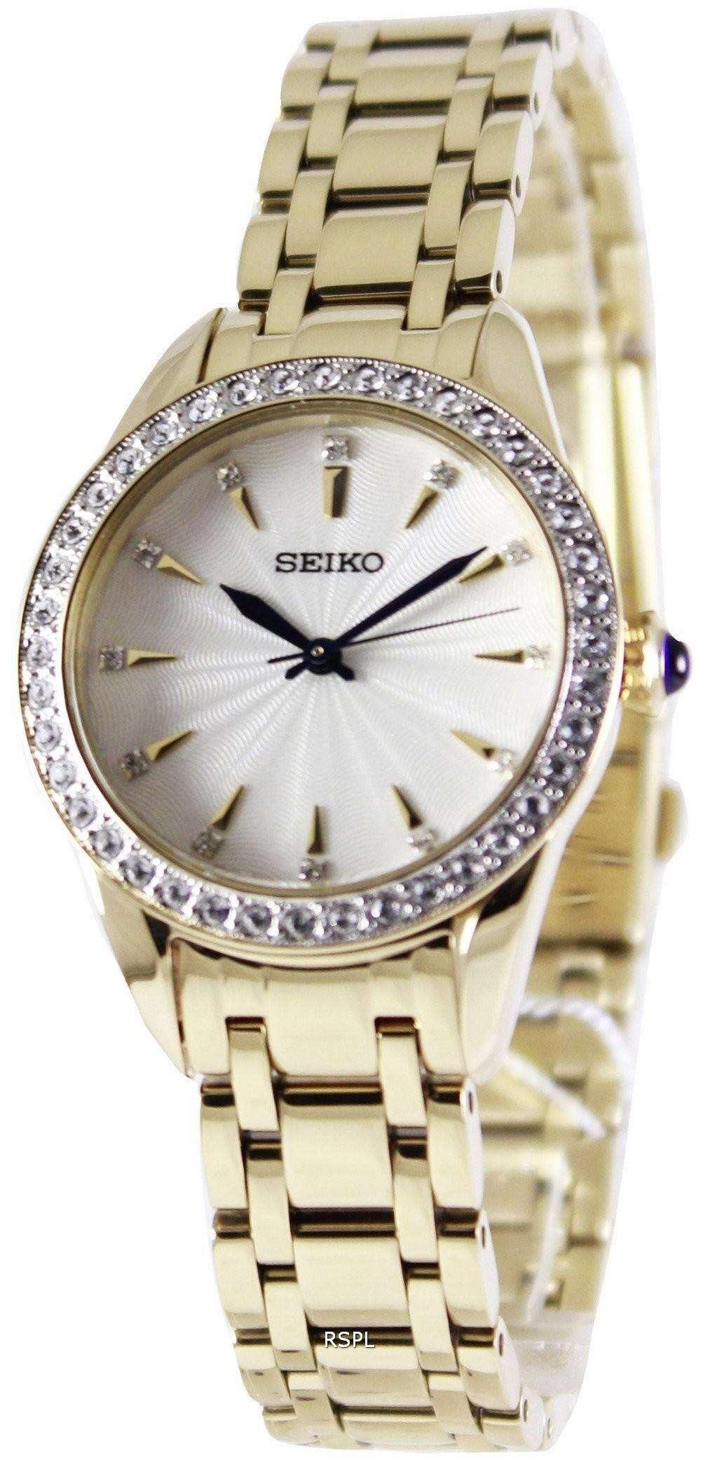 Seiko quartz swarovski crystals srz386p1 srz386p women 39 s watch for Swarovski crystals watch