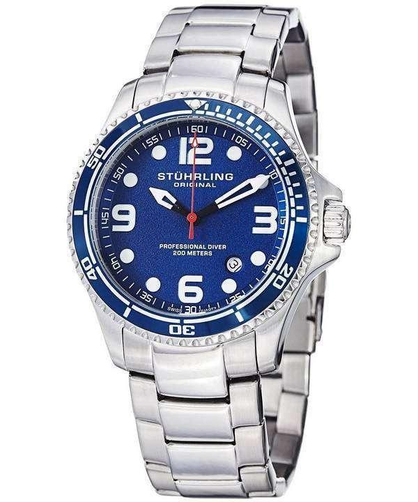 02c19c12c Stuhrling Original Aquadiver Specialty Grand Regatta Swiss Quartz HN593.33  Mens Watch