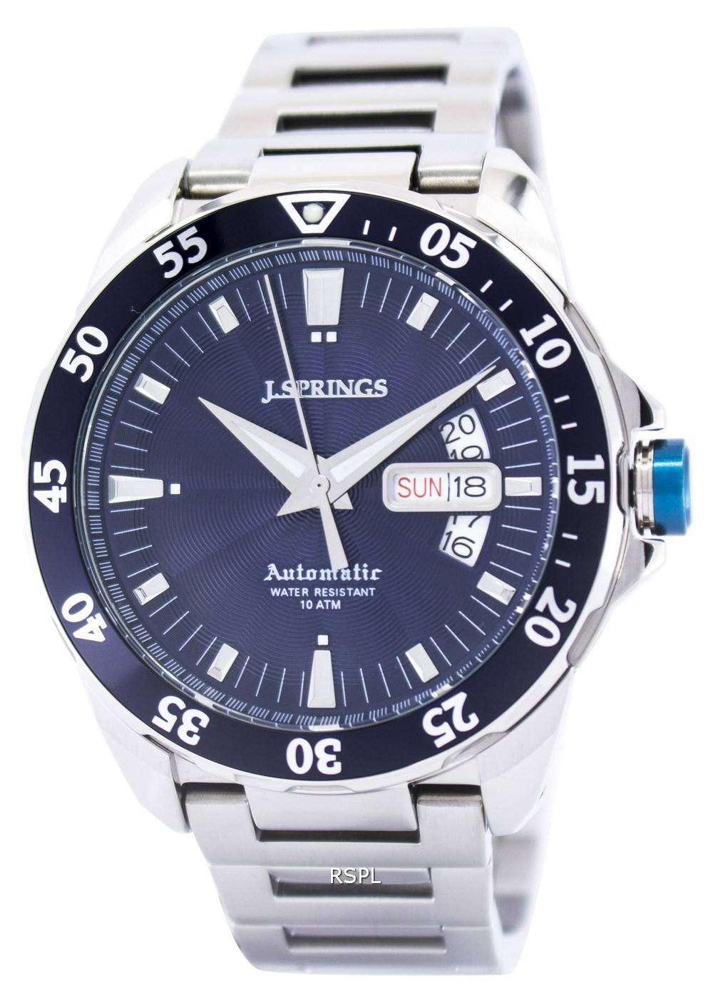 J.Springs by Seiko Automatic Blue Dial 100M BEB068 Men's ...