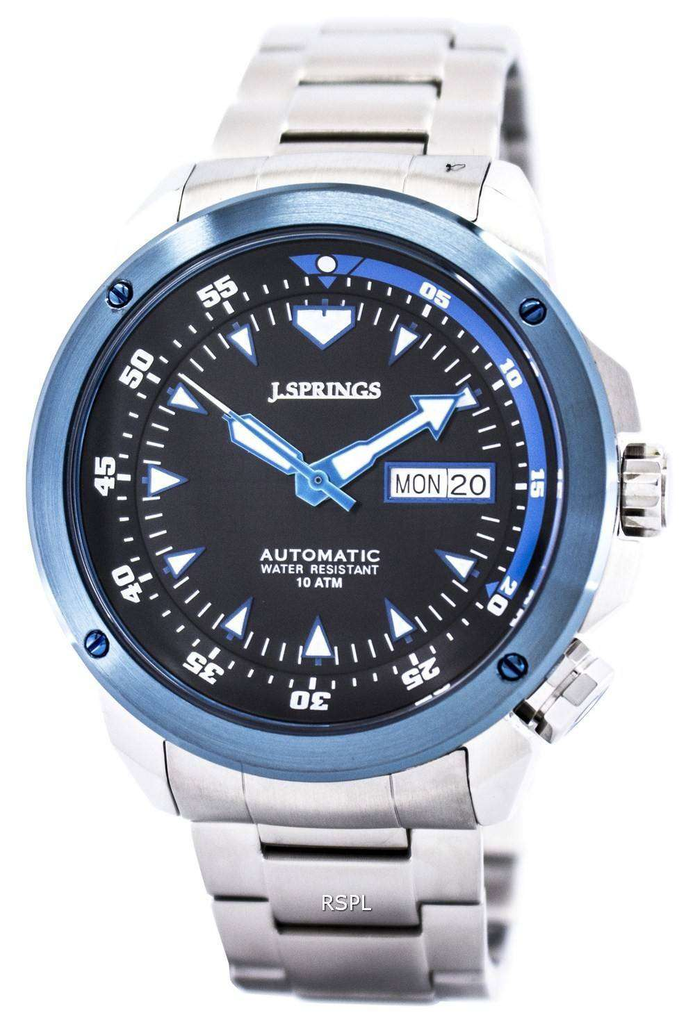j springs by seiko sports automatic blue dial 100m beb085 men 39 s watch