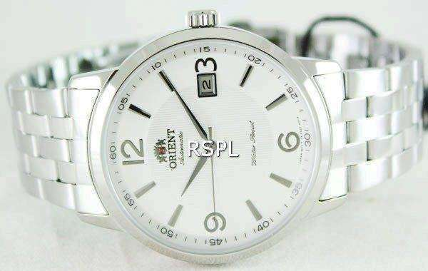 Orient Symphony Automatic Steel Textured White Dial ER2700CW Mens Watch
