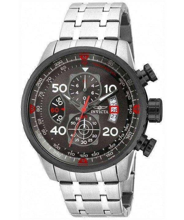 Invicta Aviator Chronograph Gunmetal 17204 Mens Watch