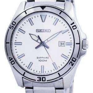 Seiko Quartz Sapphire Glass White Dial SGEH59 SGEH59P1 SGEH59P Mens Watch