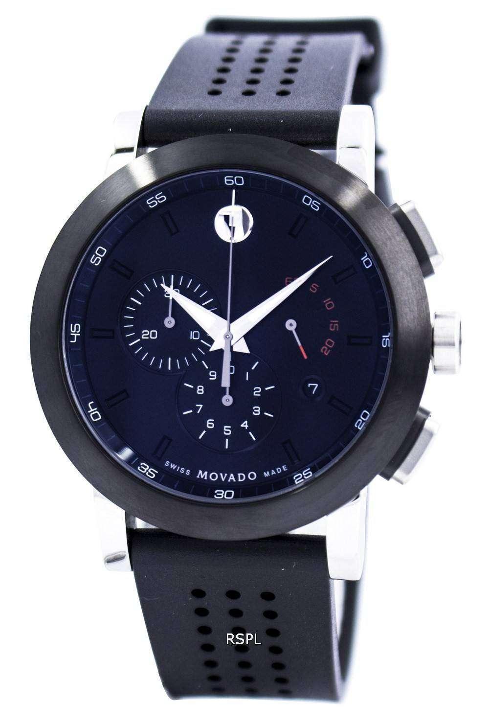movado museum sport chronograph swiss made quartz 0606545
