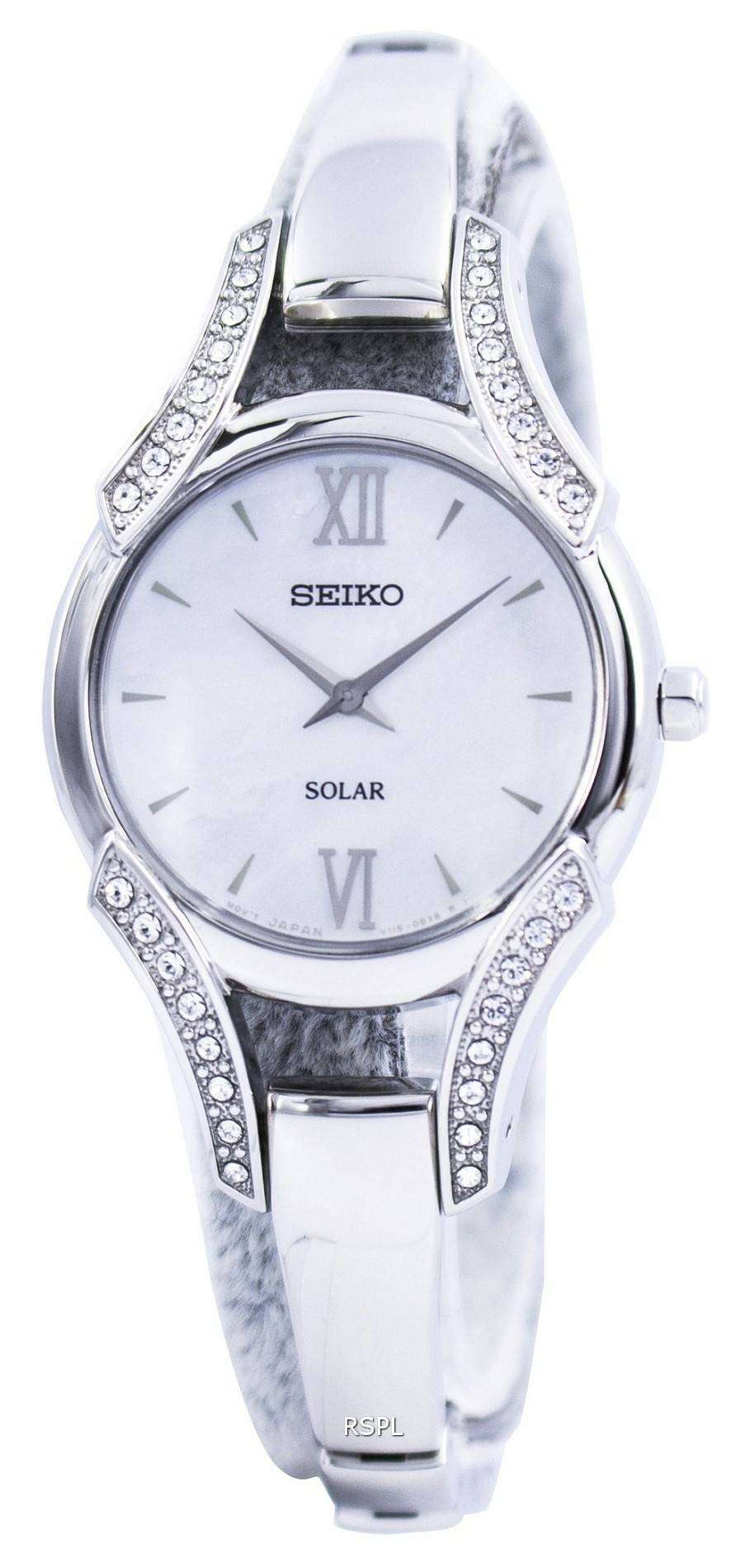 Seiko solar swarovski crystals sup213 sup213p1 sup213p womens watch for Swarovski crystals watch