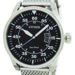 Citizen Aviator Eco-Drive Mesh Band AW1360-55E Men's Watch