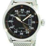 Citizen Aviator Eco-Drive Mesh Band AW1360-55F Men's Watch