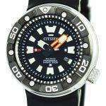 Citizen Promaster Eco-Drive Professional Diver's 300M DLC Japan Made BN0176-08E Men's Watch