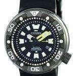 Citizen Promaster Eco-Drive Professional Diver's 300M DLC Japan Made BN0177-05E Men's Watch