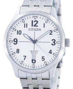 Citizen Quartz White Dial BI1050-81B Mens Watch