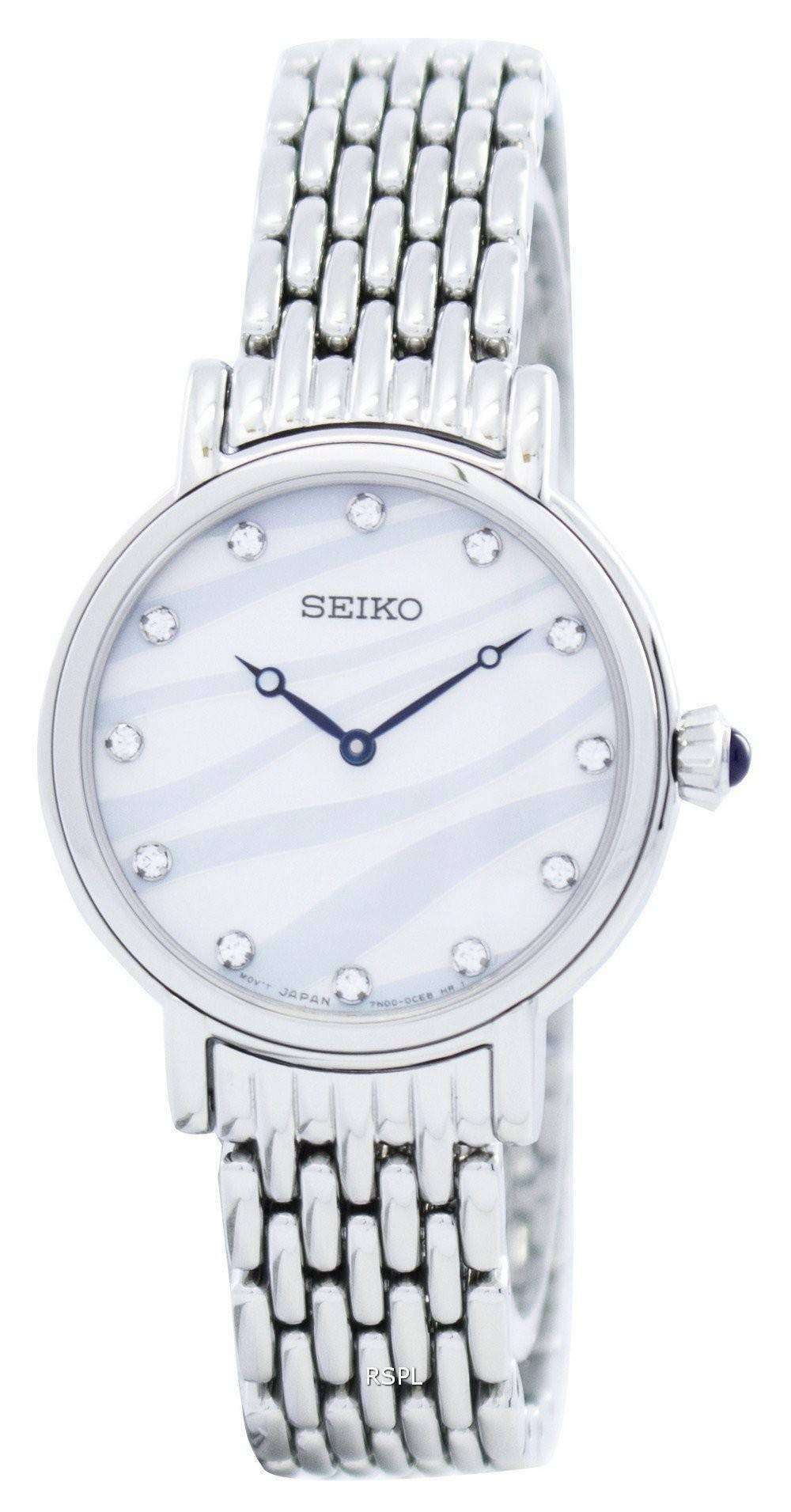 Seiko quartz swarovski crystals sfq807 sfq807p1 sfq807p women 39 s watch for Swarovski crystals watch