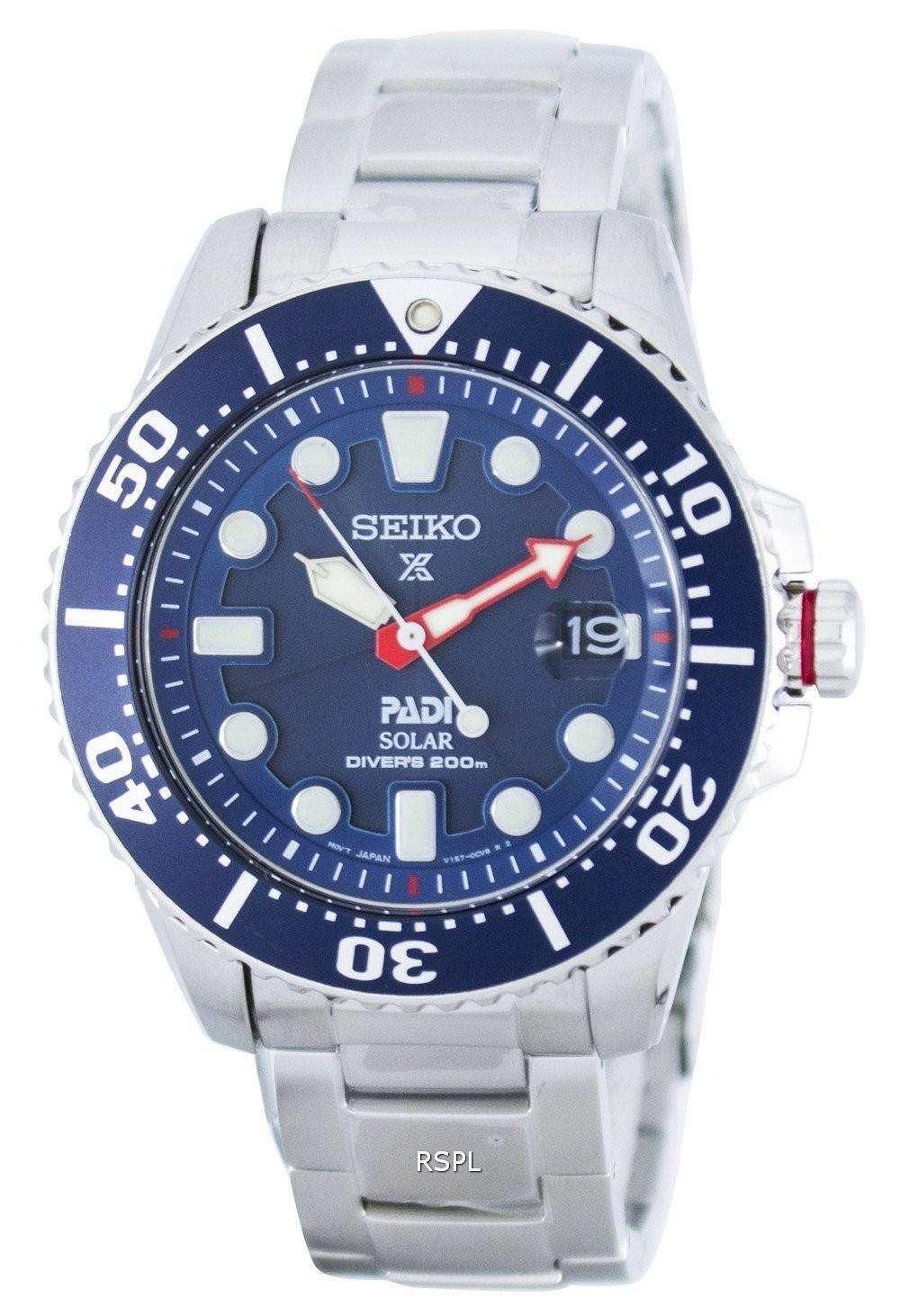 Seiko Prospex PADI Special Edition Solar Diver's 200M ...