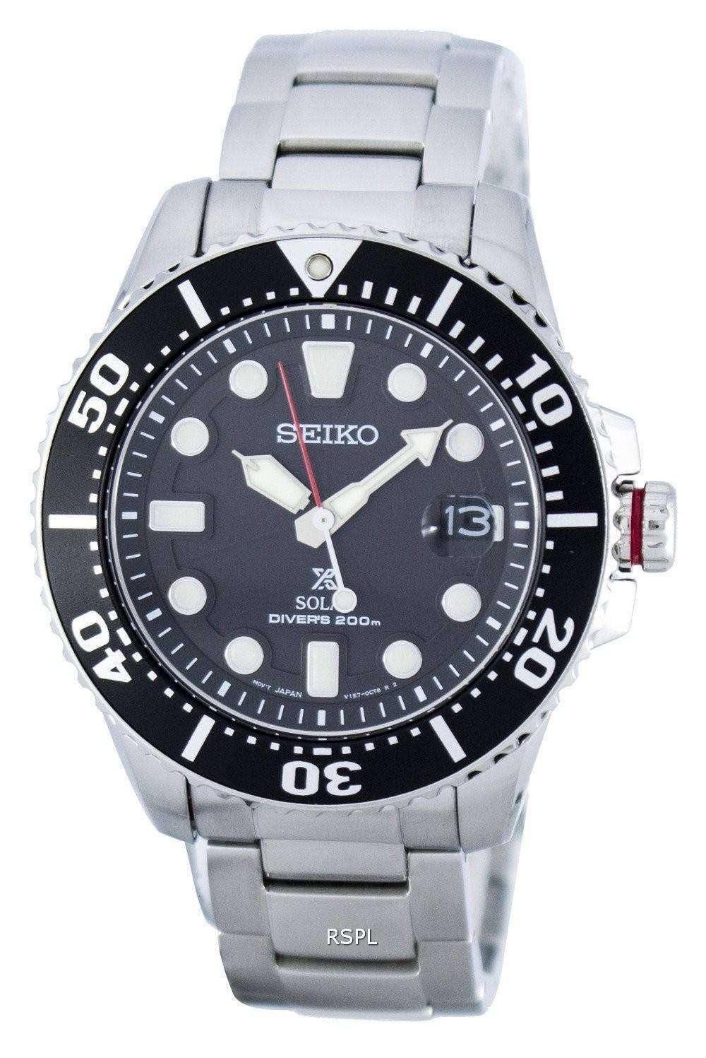 seiko prospex solar diver 39 s 200m sne437 sne437p1 sne437p men 39 s watch. Black Bedroom Furniture Sets. Home Design Ideas