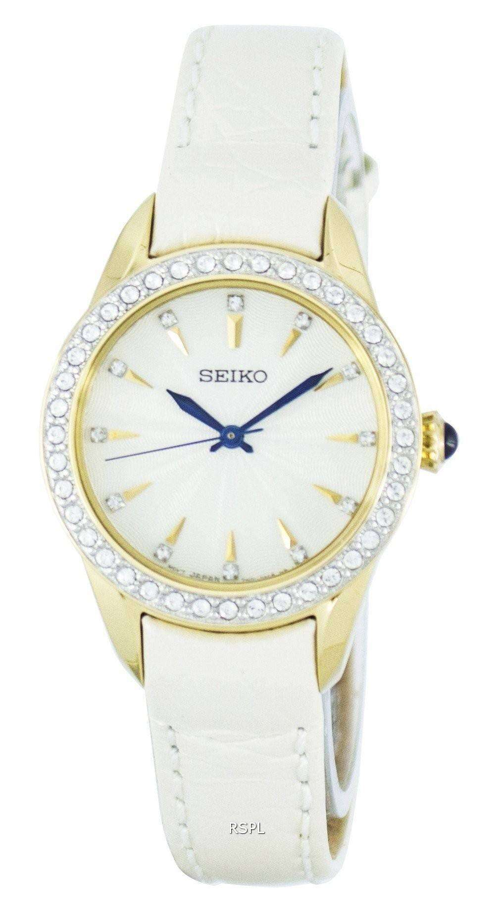 Seiko quartz swarovski crystals srz386p2 women 39 s watch for Swarovski crystals watch
