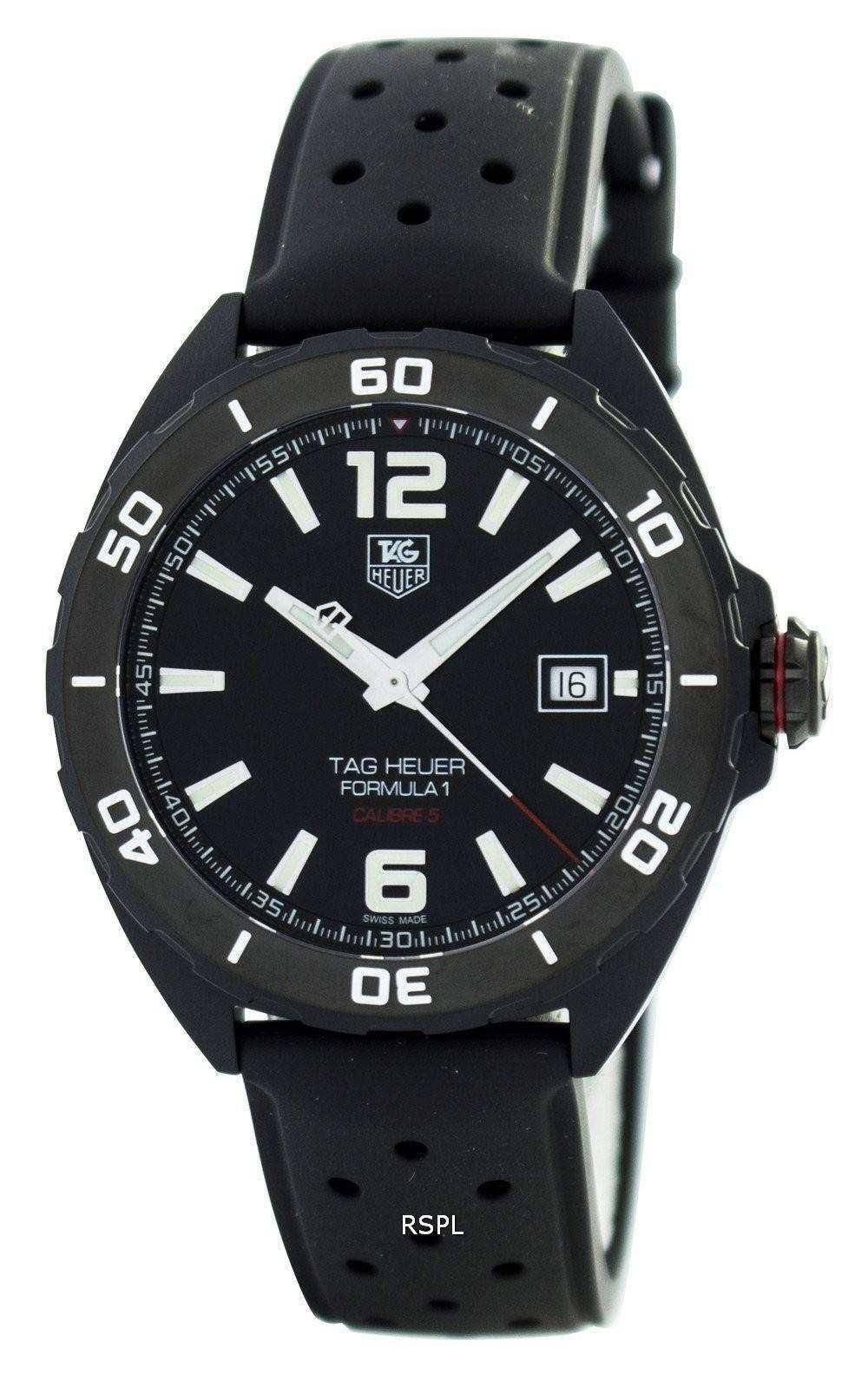 81051180687 Tag Heuer Full Black Edition Formula 1 Calibre 5 Automatic 200M  WAZ2115.FT8023 Men s Watch