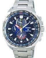 Seiko Prospex World Time Solar Chronograph SSC549 SSC549P1 SSC549P Men's Watch
