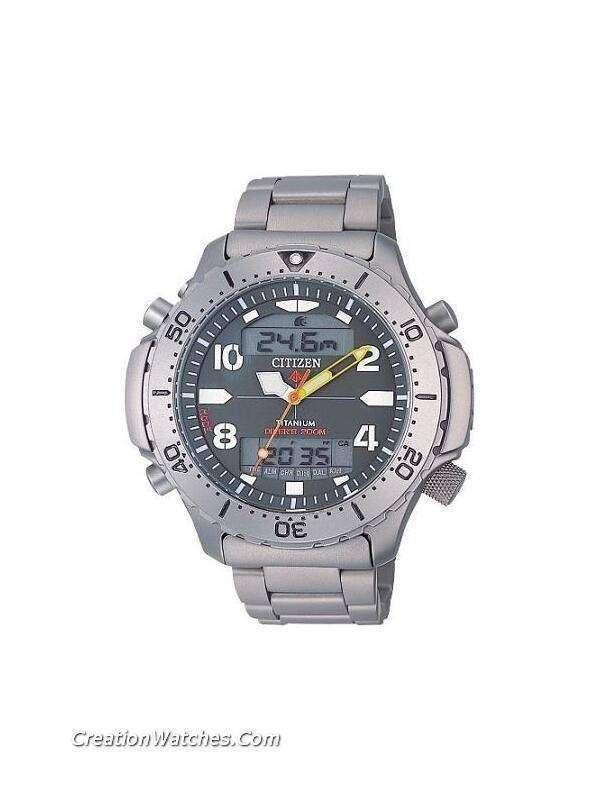 Citizen titanium promaster diver jp3050 55w jp3050 aquamount depth meter altimeter watch - Citizen titanium dive watch ...
