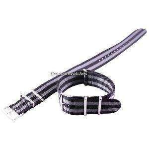 Grey And Black Nato Strap 22mm For SKX007, SKX009, SKX011, SRP497, SRP641