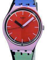 Swatch Originals A Cote Quartz Multicolor GB286 Unisex Watch