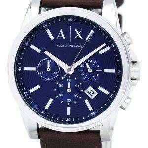 Armani Exchange Quartz Chronograph Blue Dial AX2501 Mens Watch