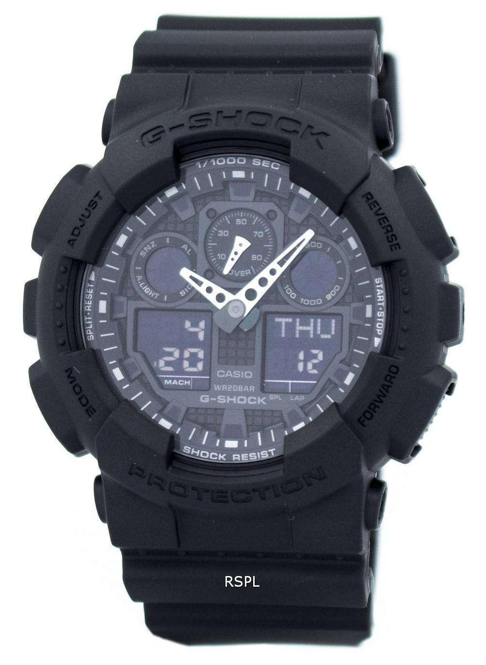 casio gshock military matte black ga1001a1 mens watch