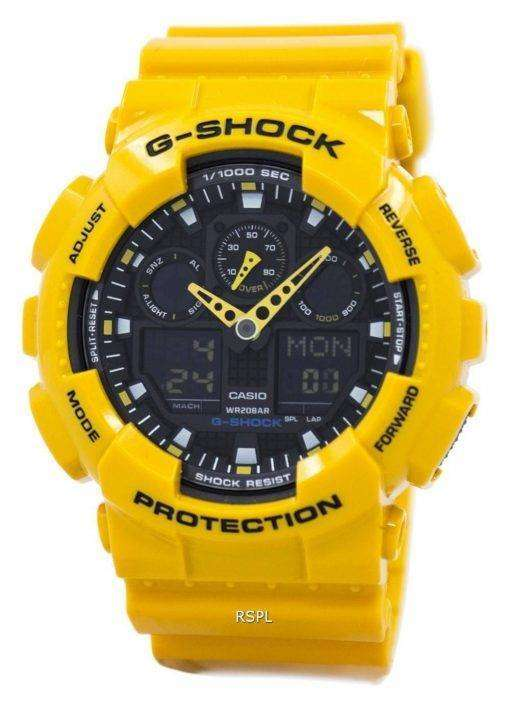Casio G-Shock GA-100A-9ADR GA-100A-9A GA-100A-9 Velocity Indicator Alarm Watch