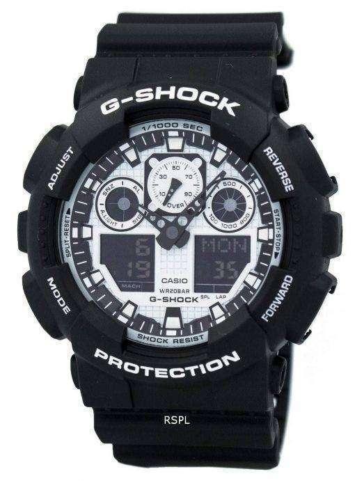 Casio G-Shock White and Black Series Analog Digital GA-100BW-1A Men's Watch