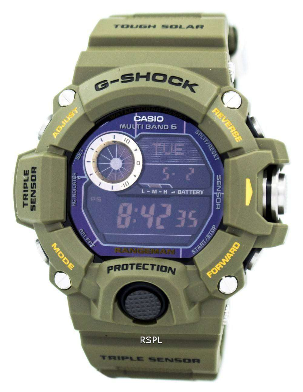 Casio G-Shock Rangeman Tough Solar Multi-Band Atomic GW-9400-3 Mens ... 7918bd128