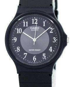 Casio Classic Analog Quartz Black Resin MQ-24-1B3LDF MQ-24-1B3L Mens Watch