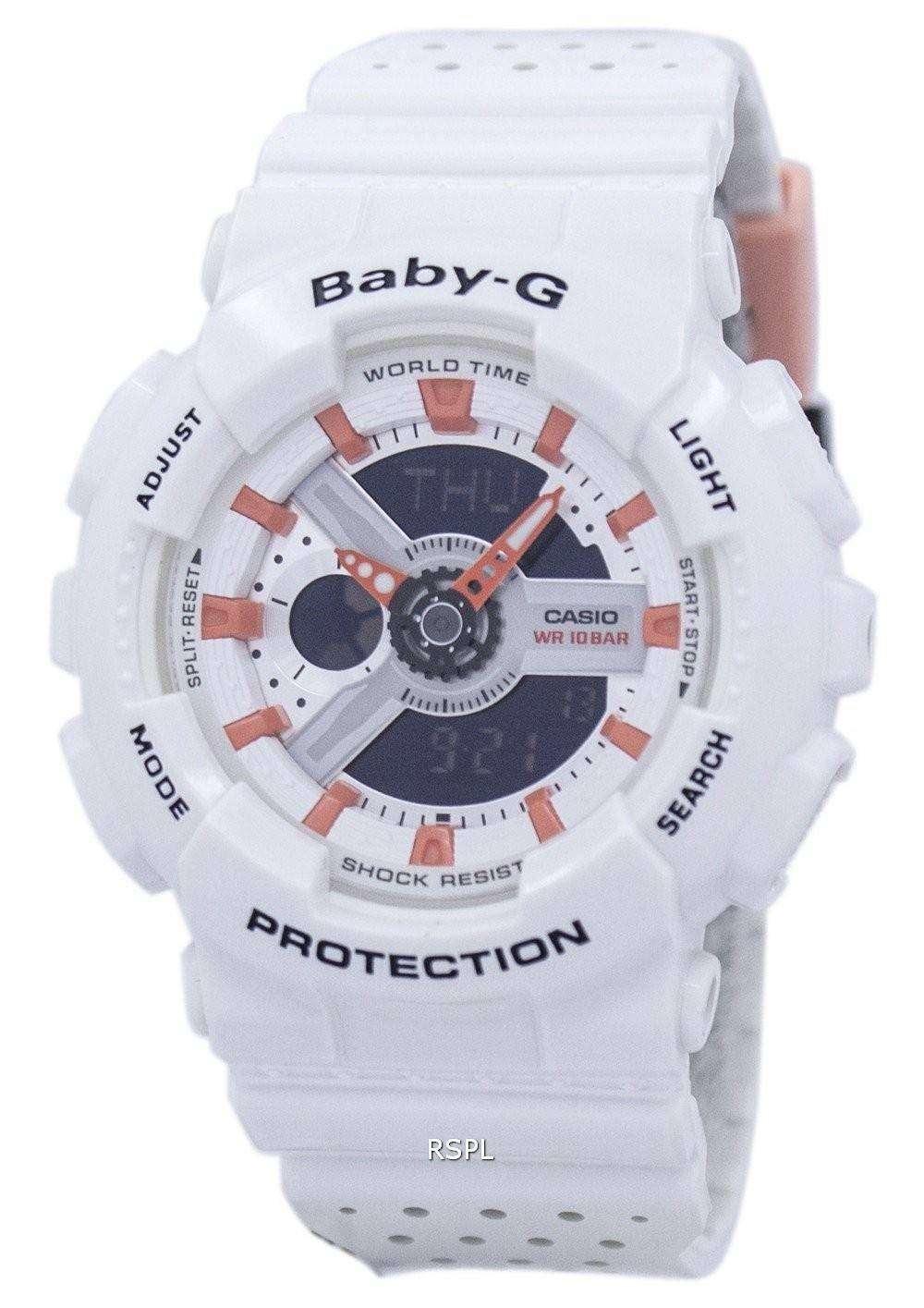 Casio Baby-G Shock Resistant World Time Analog Digital BA-110PP-7A2 Women s 42fd7d4c33