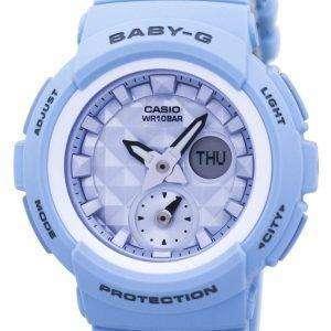 Casio Baby-G Shock Resistant World Time Analog Digital BGA-190BE-2A Women's Watch