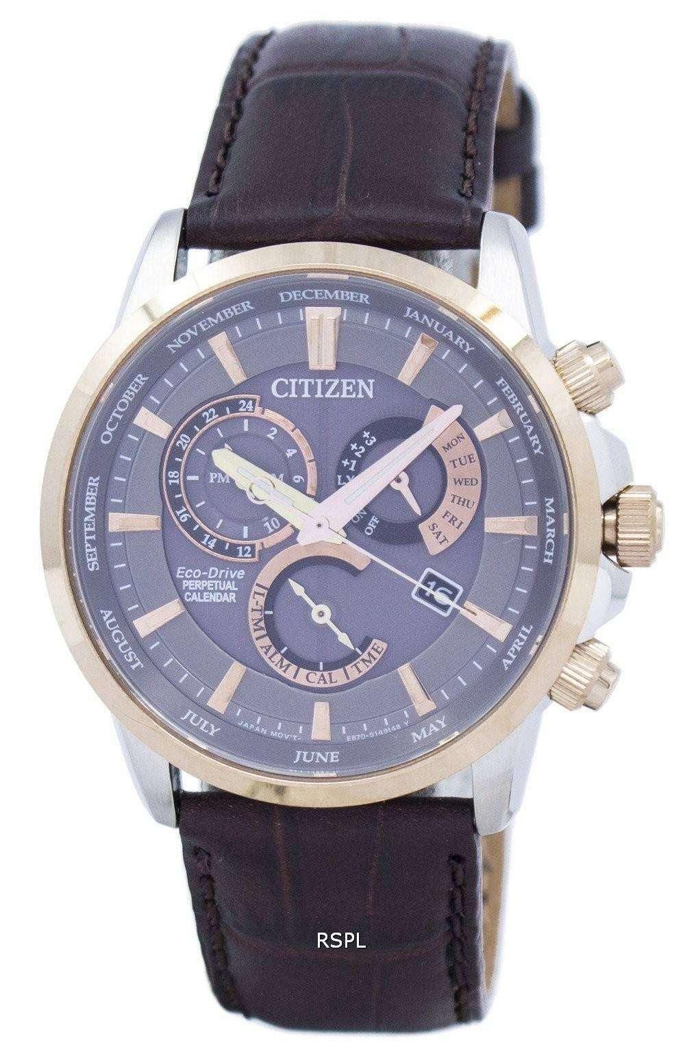 citizen ecodrive chronograph perpetual calendar alarm
