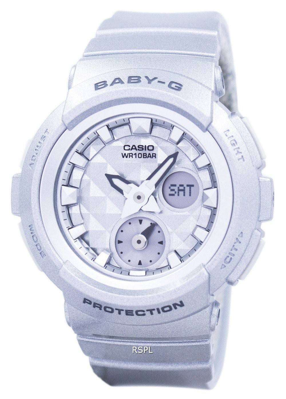 be7415a8464 Casio Baby-G Shock Resistant World Time Analog Digital BGA-195-8A Women s