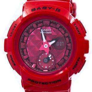 Casio Baby-G Shock Resistant World Time Analog Digital BGA-195M-4A Women's Watch