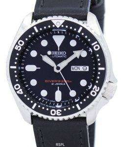 Seiko Automatic Diver's Ratio Black Leather SKX007J1-LS8 200M Men's Watch