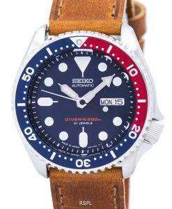 Seiko Automatic Diver's Ratio Brown Leather SKX009J1-LS9 200M Men's Watch