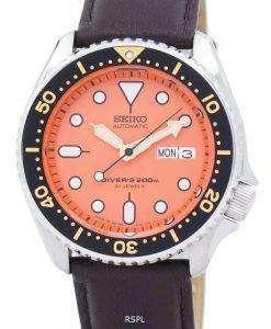 Seiko Automatic Diver's Ratio Dark Brown Leather SKX011J1-LS11 200M Men's Watch