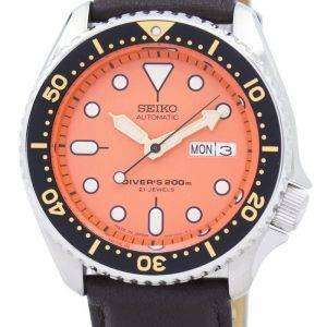 Seiko Automatic Diver's Ratio Dark Brown Leather SKX011J1-LS11 200M Men's Watch