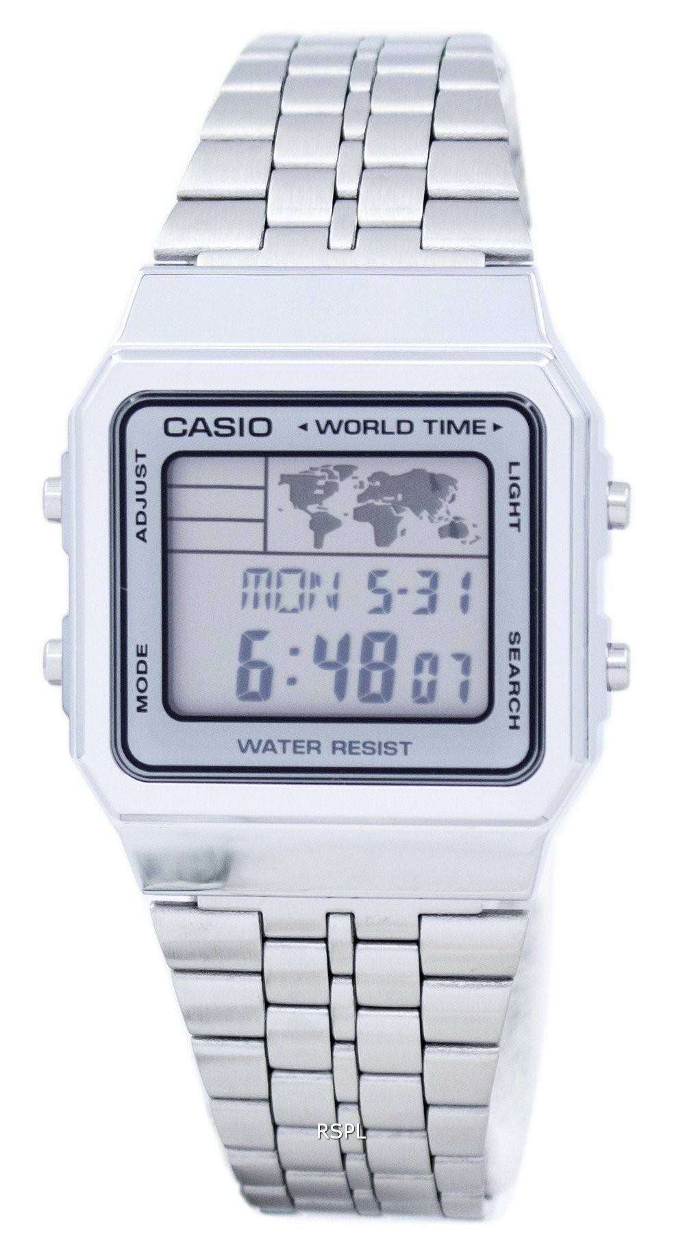 casio alarm world time digital a500wa 7df men 39 s watch. Black Bedroom Furniture Sets. Home Design Ideas