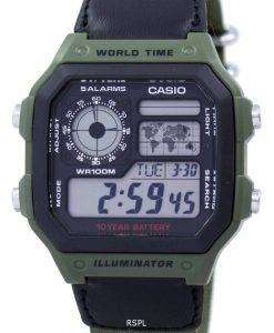 Casio World Time Alarm Digital AE-1200WHB-3BV Men's Watch