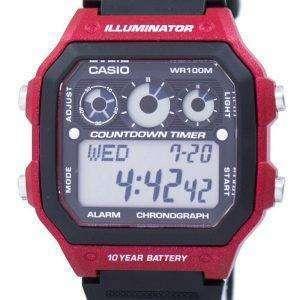 Casio Youth Series Illuminator Chronograph Alarm AE-1300WH-4AV Men's Watch