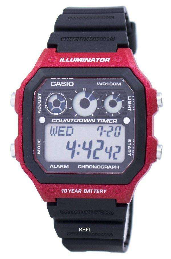 Casio Youth Series Illuminator Chronograph Alarm AE-1300WH-4AV Men's Watch