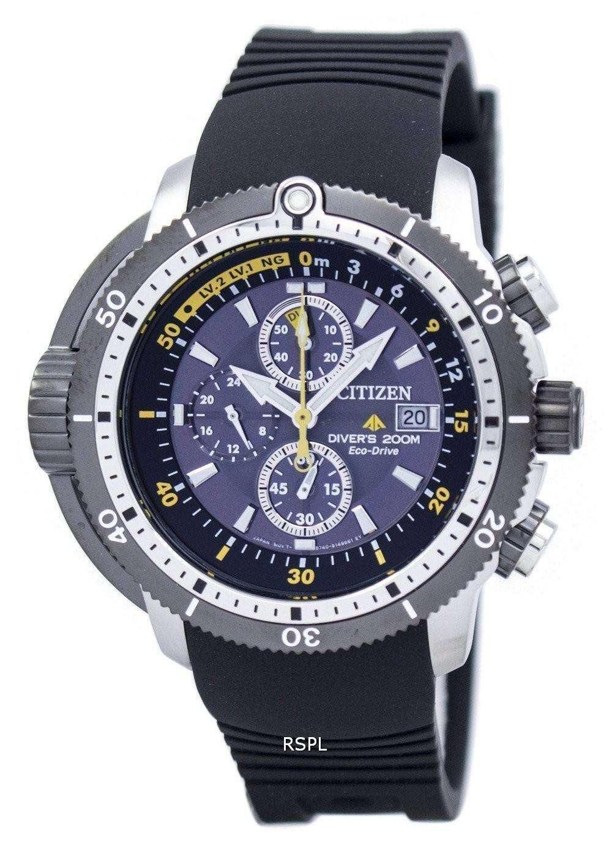 Citizen promaster aqualand diver eco drive chronograph bj2127 16e men 39 s watch - Citizen promaster dive watch ...
