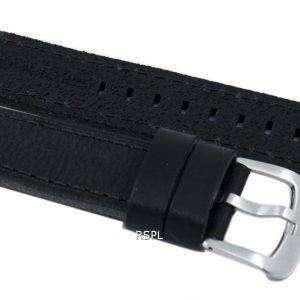 Black Ratio Brand Leather Strap 22mm For SKX007, SKX009, SKX011, SNZG07, SNZG015