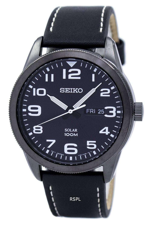 Seiko Solar SNE477 SNE477P1 SNE477P Men's Watch ...
