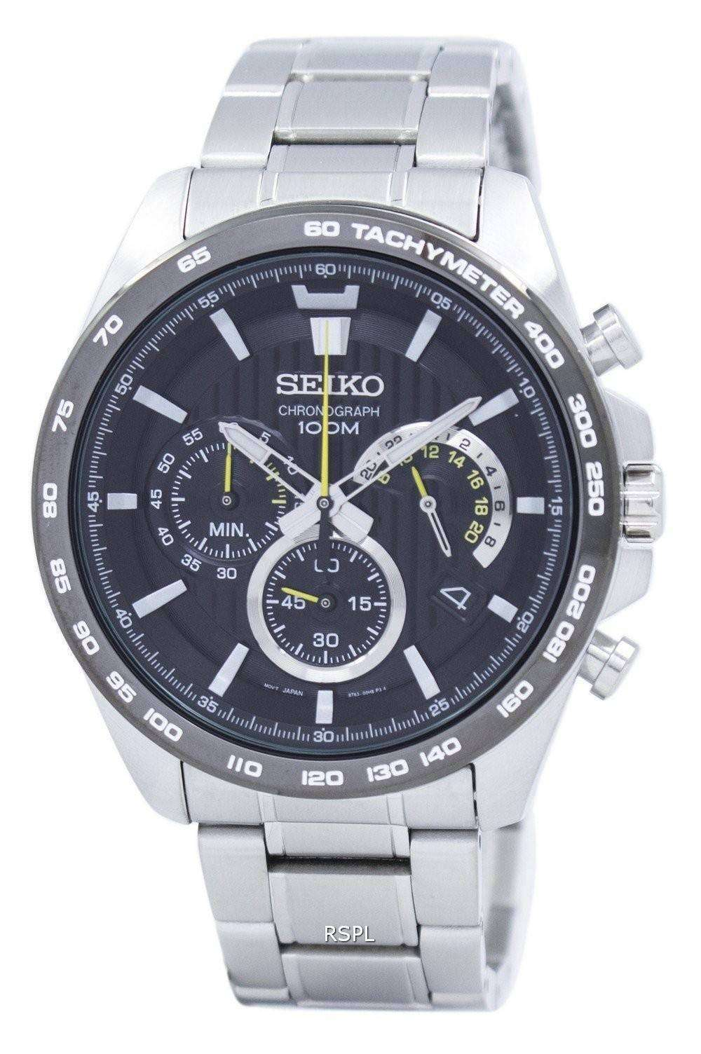 Seiko Chronograph Tachymeter Quartz SSB303 SSB303P1 SSB303P Men s Watch da8dddd82799