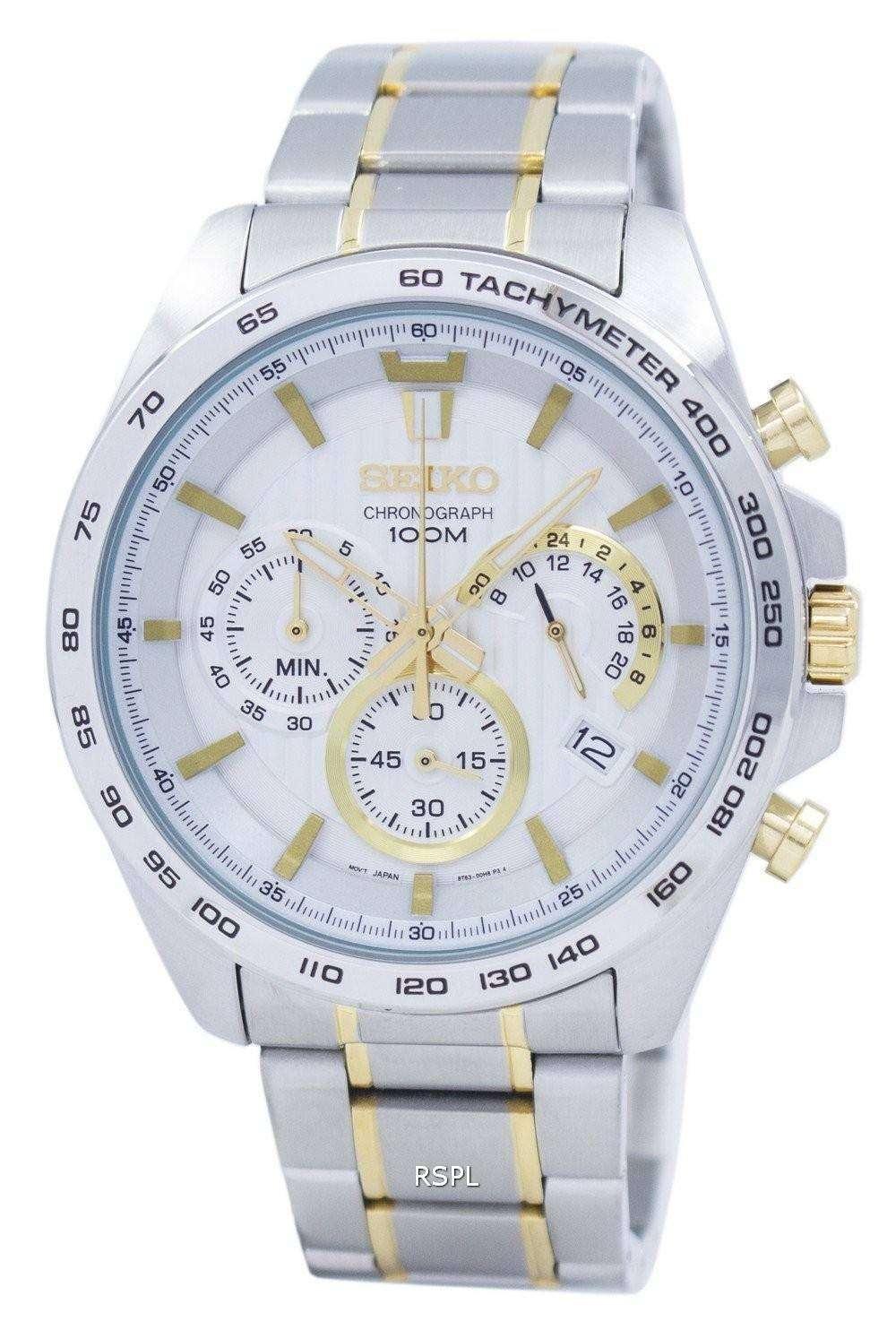 on sale 63e5e 8d3d4 Seiko Chronograph Quartz Tachymeter SSB309 SSB309P1 SSB309P Men's Watch