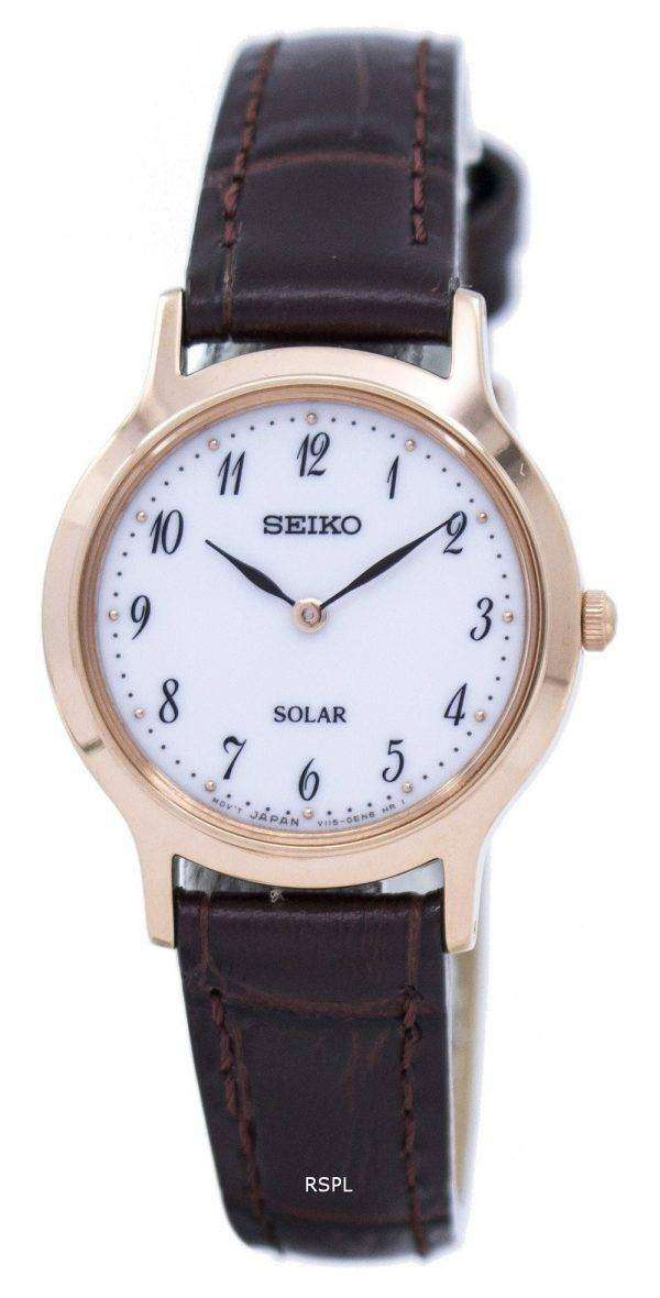 Seiko Solar SUP372 SUP372P1 SUP372P Women's Watch