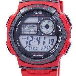 Casio Youth World Time Alarm World Map AE-1000W-4AV AE1000W-4AV Men's Watch