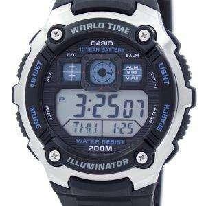 Casio Youth Illuminator World Time Alarm AE-2000W-1AV AE2000W-1AV Men's Watch